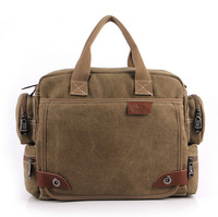 2014 New Men's Retro Solid Fashion leisure  canvas shoulder Handbags Y0578
