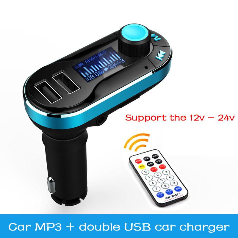 New multi-function car MP3 player FM radio transmitter modulator 12V-24V auto dual USB charger fashion free shipping(China (Mainland))