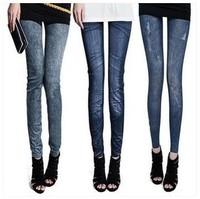 elastic force women leggings autumn winter fitness boots jeans leggings skinny slim solid color black warm  thicken  AZ124