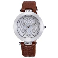 Women's 4colors Genuine Leather Watch SKONE Luxury Brand Analog Quartz Watches Women Dress Watches 9353