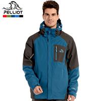 Pelliot outdoor jacket male outdoor cold-proof thermal fleece three-in outdoor jacket twinset