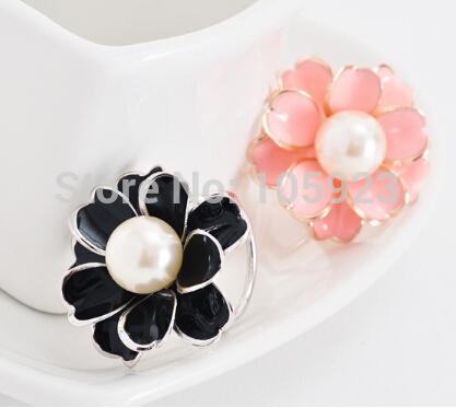 scarf ring shawl fix decoration ring hijab jewelry fancy flower free ship(Hong Kong)