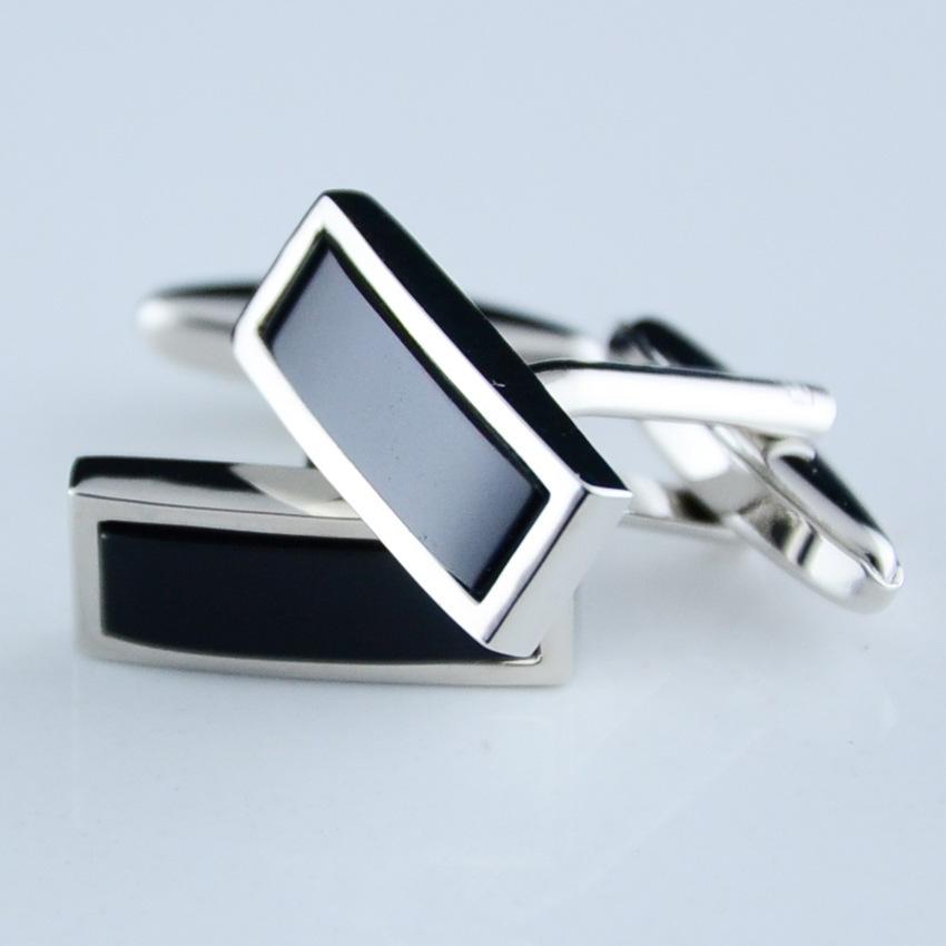 WholeSale 100pairs/lot black onyx cufflinks spot exquisite simplicity of business gifts wedding cufflinks Free Shipment(China (Mainland))