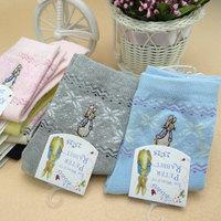 10 Pairs Fashion Womens Girls Korean Cute Peter Rabbit Cotton Ladys Casual Short Socks Mix Colors Free Shipping