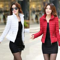 Casaco Feminino Inverno 2014 Winter Jacket Women Slim Short Ladies Zippers Plus Size Coats Jaquetas Female 3XL Cotton Padded 76