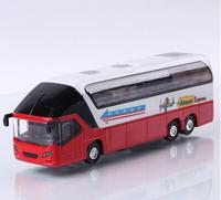 Luxury tourist bus alloy car bus alloy car model toy car acoustooptical WARRIOR