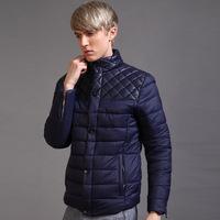 Men's winter coat 2014 new wave of men's jackets Slim Down Cotton clothes jacket collar male Korean tidal