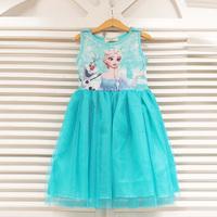Frozen Girl Dress 2015 Kids Clothes Lolita Elsa Dress Baby Girls Princess Tutu Lace Dresses Children Disfraz Vestidos De Meninas
