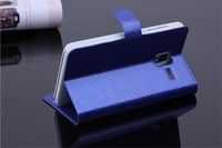 10pcs/lot New Luxury Silk Pattern Flip stand card wallet smart leather bag case skin cover For Lenovo A850+
