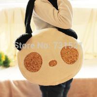 Cartoon plush shoulder bag plush women's paillette handbag large bag winter