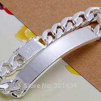 Mens Men  Fashion Jewelry 925 sterling Silver Male Bracelet Bright Cool Bracelet Bangles boy boyfriend birthday  gift box LK181