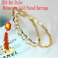 2014 summer hot-selling big circle hoop earrings female fashion accessories gift