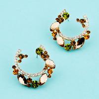 Fashion big stud earring female exaggerated earrings crystal luxury elegant decoration 2014 tb06778