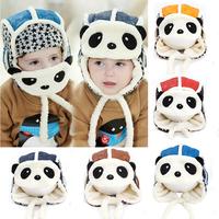 2014 baby hat winter panda hats toddler girls boys  fur hat with ear flaps Masks aviator cap toucas de inverno freeshipping