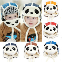 2015 baby hat winter panda hats toddler girls boys  fur hat with ear flaps face mask aviator cap toucas de inverno freeshipping