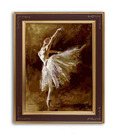 Hand-painted oil painting by numbers DIY Paint Acrylic Drawing With Brush Paints Home Decorating Ballet dancer 2