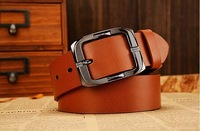 High quality fashion cowskin genuine leather belts for men length 110-125CM