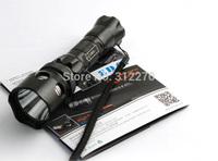 Free Shipping  B98 CREE XP-G R5 waterproof Flashlight skidproof self-defence torch super bright led flashlight