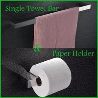 2pcs For One Package 60cm Length Stainless Steel Towel Bar + Paper Holder Bathroom Set