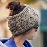 1PC Twisted Knitted Yarn Empty Hat Women Winter Fashion Hair Accessories Headbands pa870322