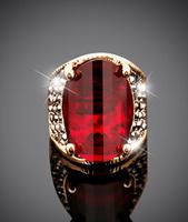 European and American fashion retro big ruby ring,rings for men,nail ring,ring crown