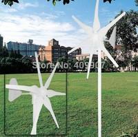 1pcs 6 blades dc motor wind turbine wind generator 300w garden windmill