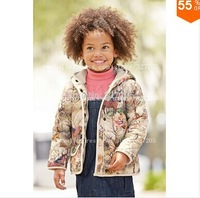 prom  children kids horse jacket for autumn winter flower coat popular cotton jackets outwear for kids gilrJackets & Coats t160