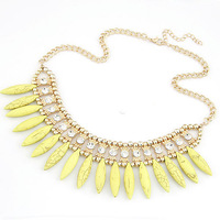 European and American fashion classic Bohemia style water metal exaggerated temperament temperament short necklace