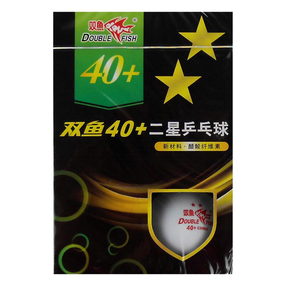 18x Double Fish 40+ (New Materials) 2-Star (2 Star, 2Star) White Table Tennis Balls(China (Mainland))