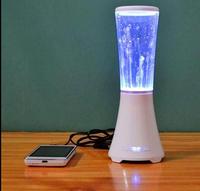 Water Dancing Bluetooth Speakers TF card U disk Mini portable Wireless dance LED loudspeakers  free  shipping ZKT