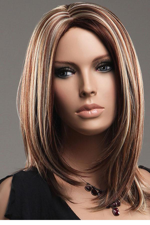 Long Straight Brown Hair With Blonde Highlights Long Hair Brown Blonde