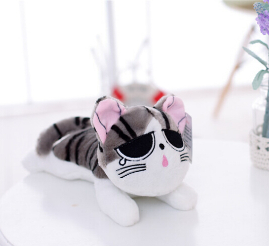 Free shipping 60cm Wholesale Price Anime Figure Cheese Cat Cute Large Stuffed Cat Doll Toys Chi's Sweet Cat Gift For Friends(China (Mainland))