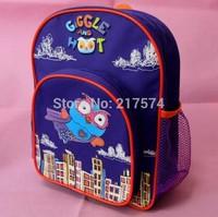 5PCS 2014 Hot Sale Cartoon Giggle Backpacks Nylon Cute Children Owl School Bags Retail 1 pcs 30*25*9cm