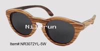 spliced wood sunglasses