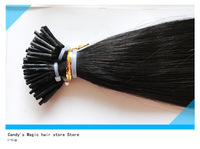"Grade 5A 18""-24"" stick Hair extension Brazilian Human remy hair  I-tip hair extension in stock very fast shipping dhl"