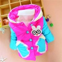 Kids 2014 winter new girls' color stitching plush padded glove pocket