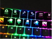 Keycaps Key caps for backlight Backlit mechanical Gaming keyboard R4/ESC Translucent dota 2 cs zerg 5pcs/lot