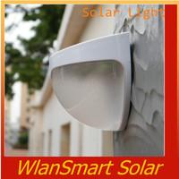 2014 Hot New solar Spot energy luz garden light 6 LED Fence Gutter Light for Outdoor Garden Wall Lobby Pathway Lamp Cold White