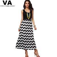 Womens beach Dresses 2014 Sleeveless O Neck Moire Pattern Female Dress Summer Slim Long Dress feminine dresses tropical P00058