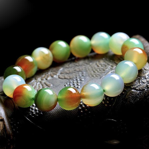 Anqi marca Pure natural brasil ágata verde pavão pulseira moda jóias finas atacado multi color pulseira 6 ~ 16 mm(China (Mainland))
