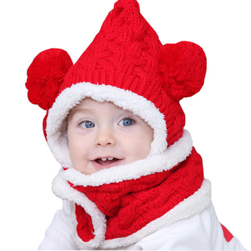 New Fashion Fall and winter plus thick velvet lining to protect the ears baby beanie hat(China (Mainland))