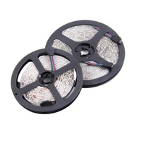 1set 2*5M Waterproof 3528 SMD LED Strip Light 600 leds RGB Garden Decor Lamps+44 Keys IR Remote