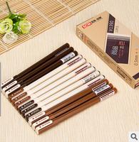 Quality 24pcs/lot Black Refill Plastic Gel Ink Pen Mix Colore Gel Pen Stationery Office/School Supplies #GP255