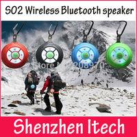 S02 Wireless Bluetooth speaker Outdoor travel wireless handsfree mini speaker with buckle Portable FM radios TF card speaker