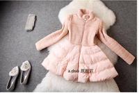italy brand winter beading slim collar down cotton padded jacket skirt ladies women winter skirt down parka coat elegant pearl