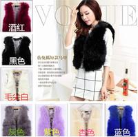 2014 new arrival Korean winter High-grade fur Faux fox fur vest custom upscale small vest women fox fur clothes lady vest