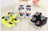 baby boys girls winter boot leather sports shoes toddler shoes first walkers fashion PU leather floral Facial makeup velvet plus