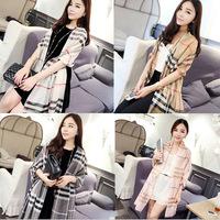 2014 New Womens Chiffon Plaid Classic Scarf High Quality Pashmina Shawl Stole Fashion Muffler Lattice Grid Scarves 4colors