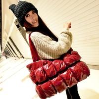 2014 winter fashion down bag women's handbag cotton-padded jacket  bag space bags