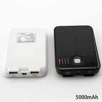 YSYZ5000 Solar Battery Charger Power Bank 5000mAh With Dual USB Connection For Mobile Phone, PSP, Nintendo DS, TomTom GPS